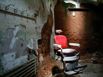 Barber's Chair in Eastern State Penitentiary