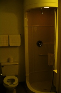 Escape pod in a bathroom - Billings Montana Motel 6