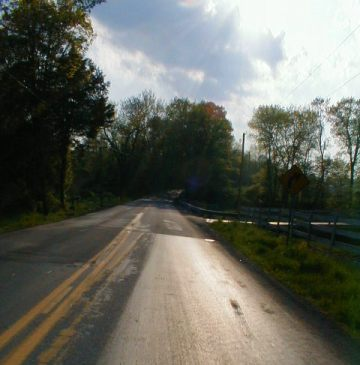 The Open Road -- West of Elizabethtown Pennsylvania